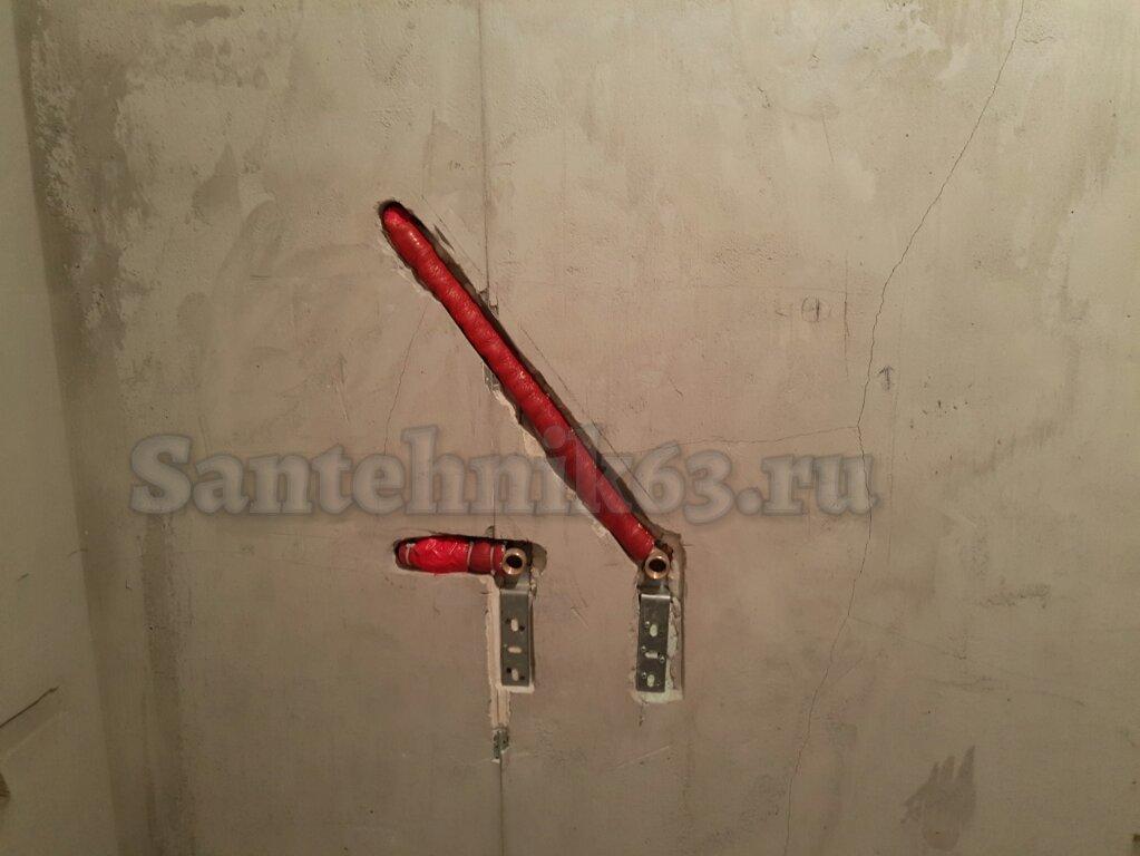 Сантехник Самара - монтаж трубопровода на полотенцесушитель Александр Борисов