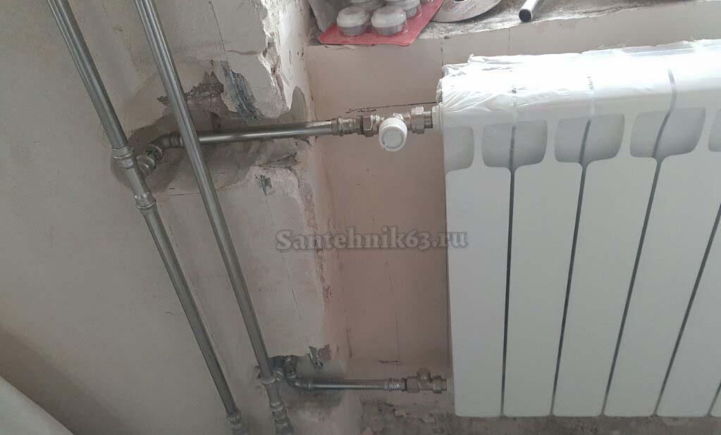 podklucenie radiatora rifar monolit nergaveikoy viega Samara - Услуги сантехника в Самаре
