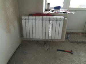 Подготовка стен под установку радиатора отопления
