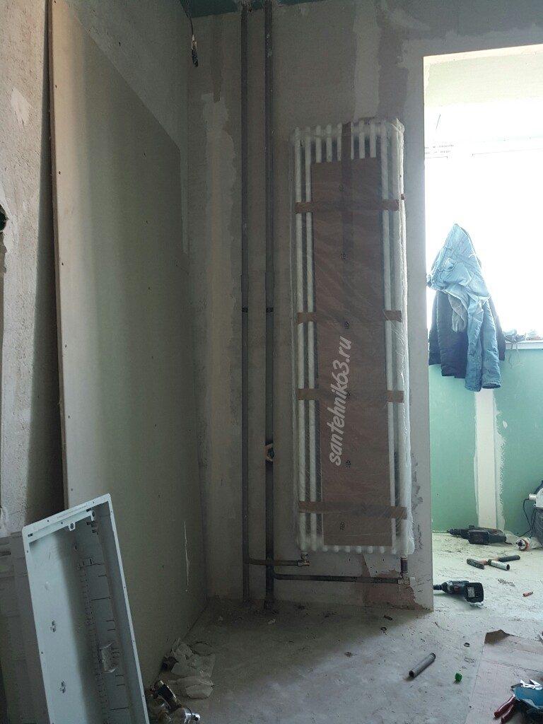Замена радиаторов отопления с газосваркой в Самаре