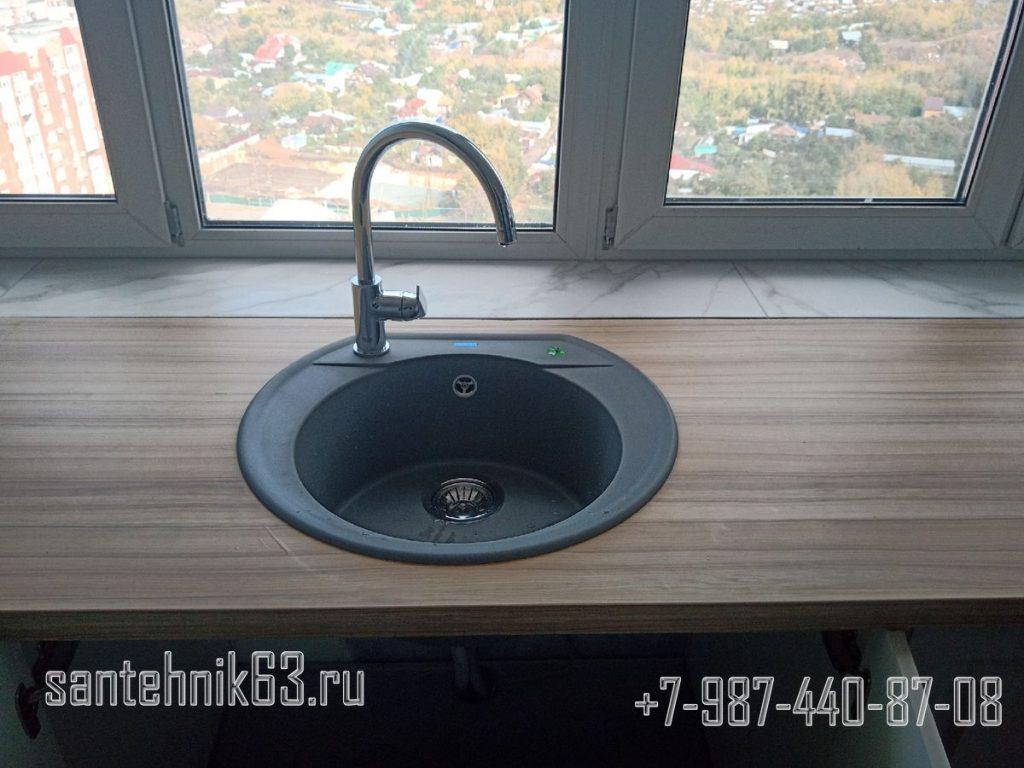 Kuhnya u okna sfa 1024x768 - Услуги сантехника в Самаре